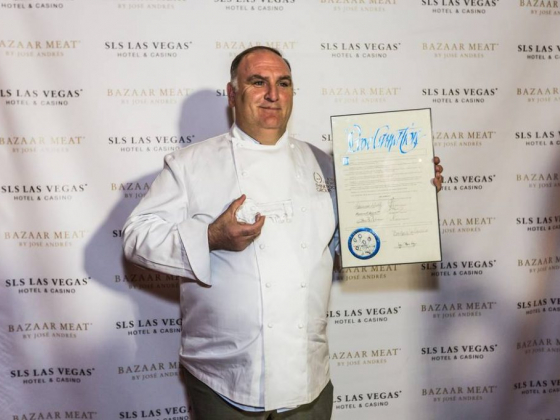 Chef Jose Andres receives key to the Las Vegas Strip