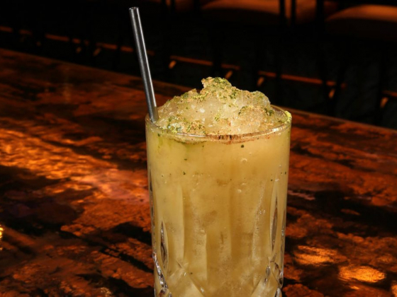 Dim Sum and Drink Sum with matcha cocktail at Mott 32