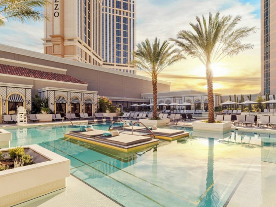 New pool deck at The Venetian in Las Vegas channels Mediterranean