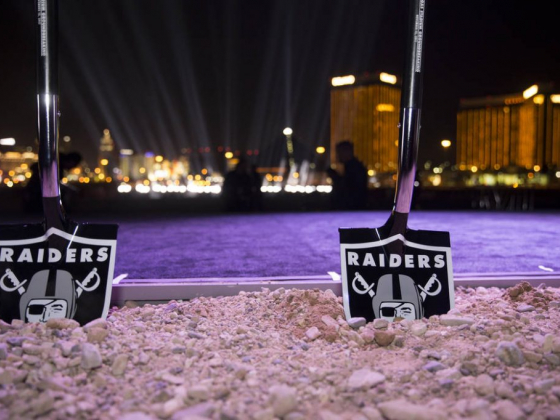 In stirring Las Vegas groundbreaking ceremony, Raiders rise up for those lost